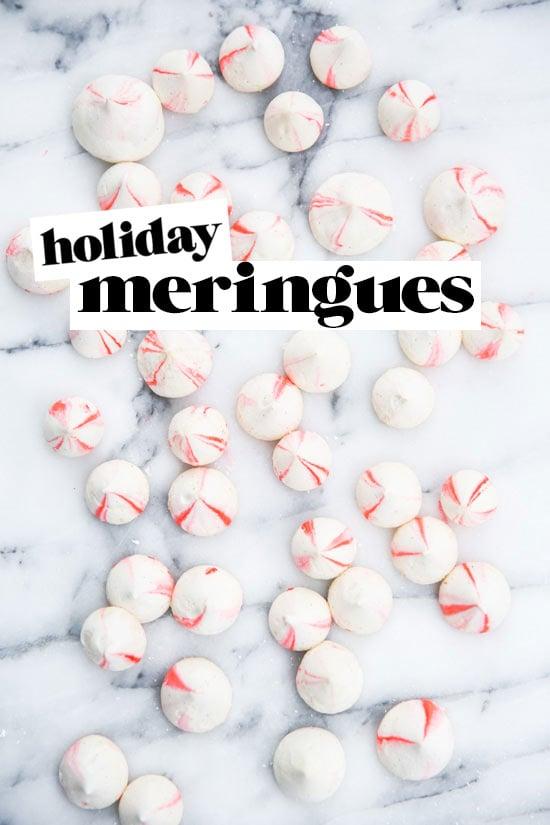 Blood orange vanilla bean meringues recipe for the holidays
