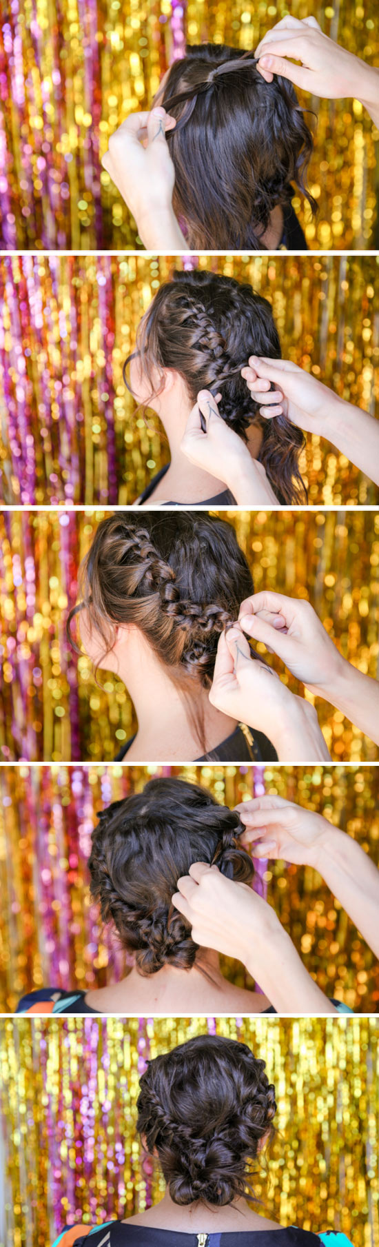 Hair Tutorial // how to recreate a unique knotted / braided updo for the holidays and beyond.