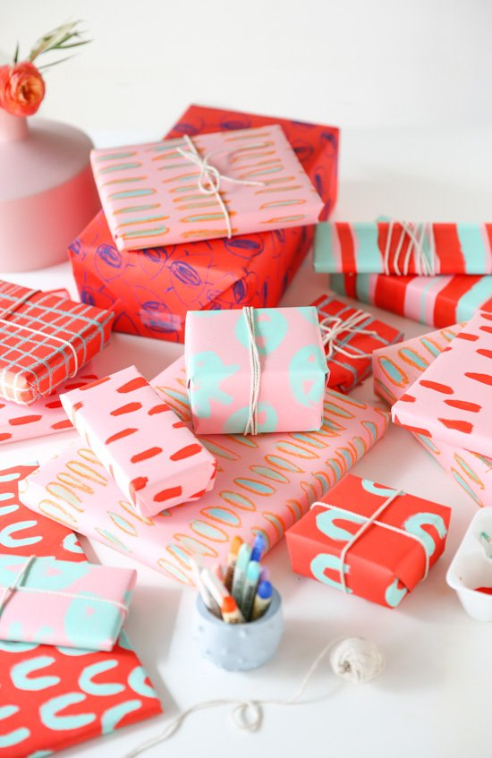 DIY Gift Wrap for Pattern Lovers