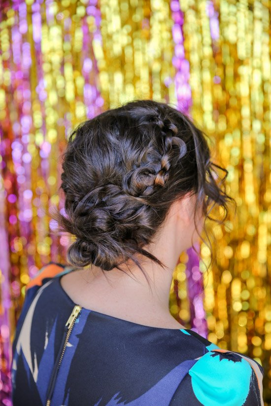 Hair Tutorial // how to recreate a unique, knotted crown updo for the holidays and beyond.