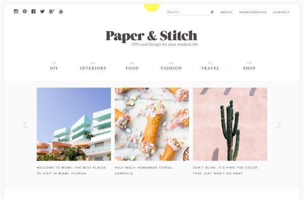2016 Paper & Stitch redesign