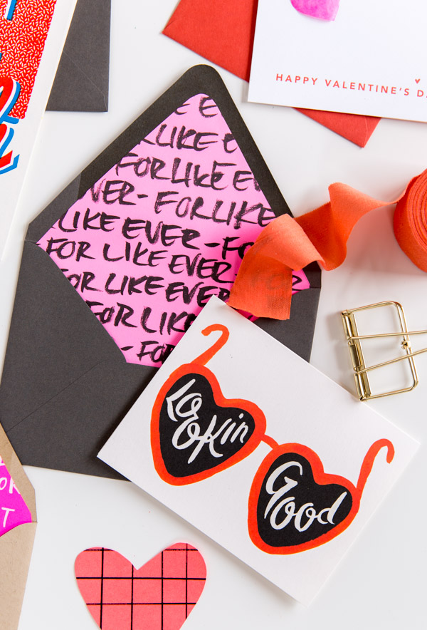 How to Make DIY Envelope Liners for Valentine's Day