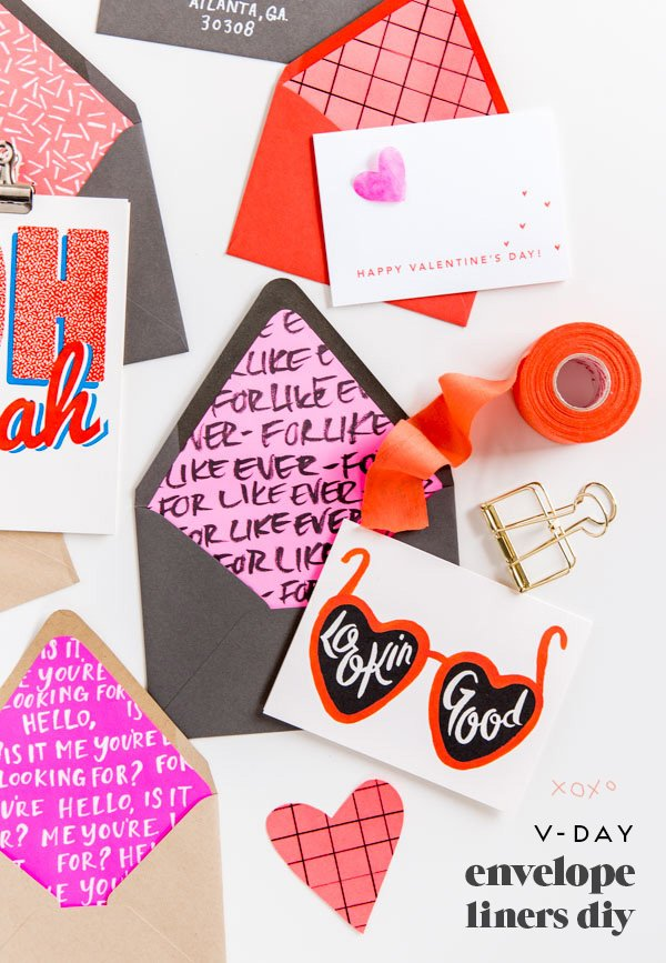 Line It UpHow to Make DIY Envelope Liners for Valentines Day