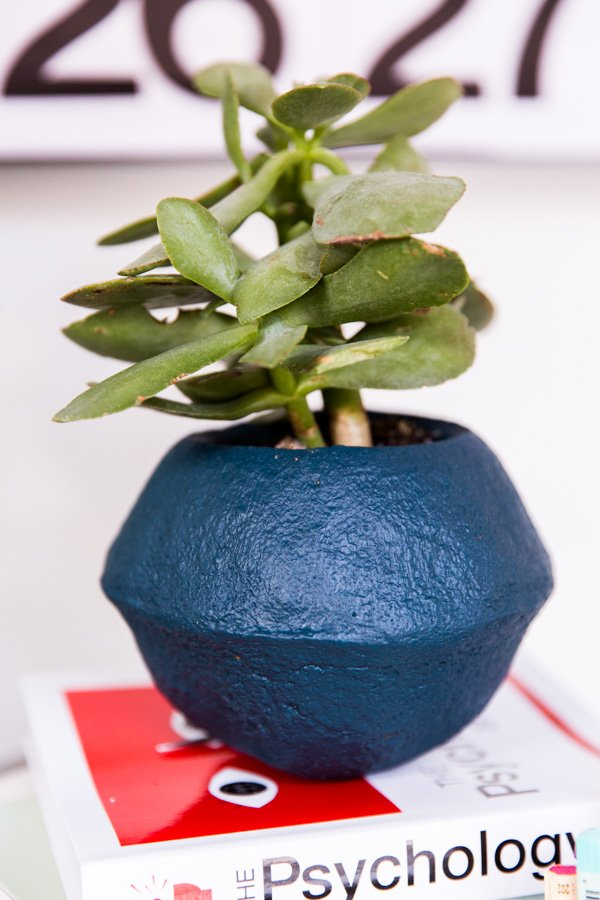 $6 DIY Faux Stoneware Planters in 15 Minutes