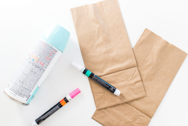 Budget-Friendly DIY Valentines Using Spray Painted Paper Bags