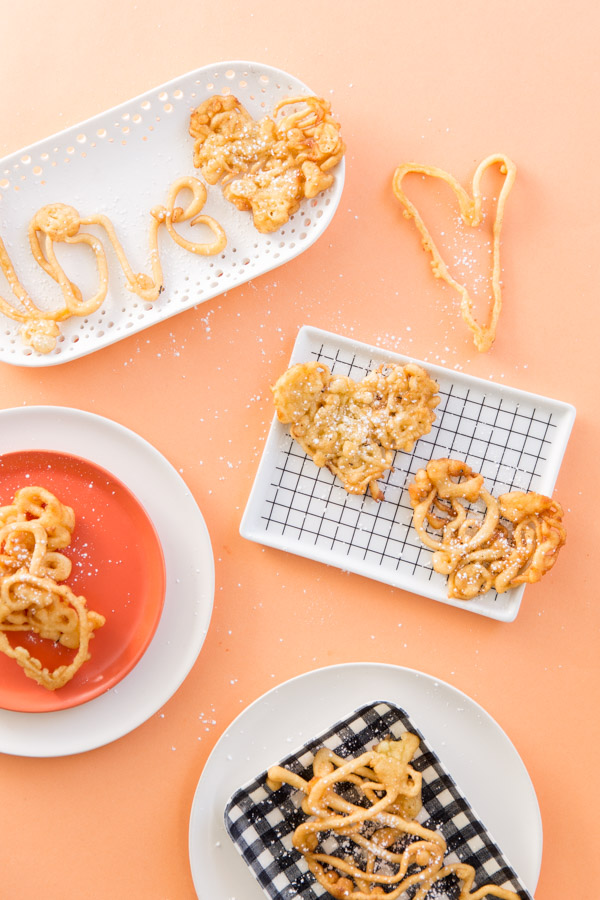 Funnel Cake Love Letters for Valentine's Day