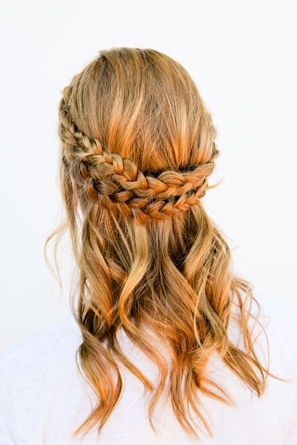 Half halo braid tutorial in 10 minutes