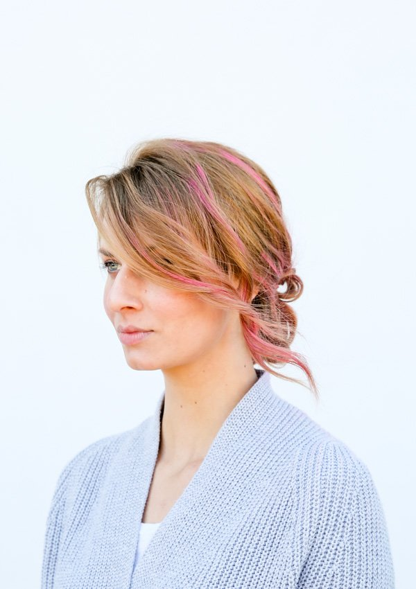 Easy knotted up to (hair tutorial)