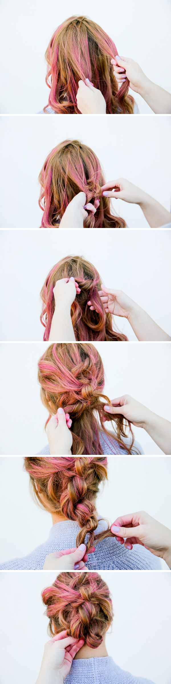 Hair tutorial for an easy knotted up do. If you can tie a knot, you can recreate this look.