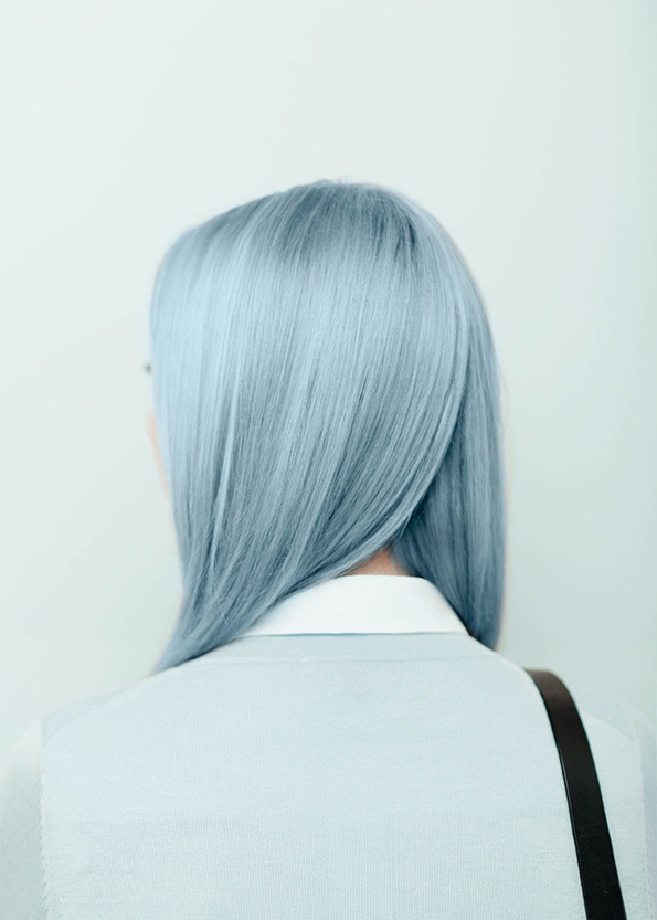 Icy grey blue