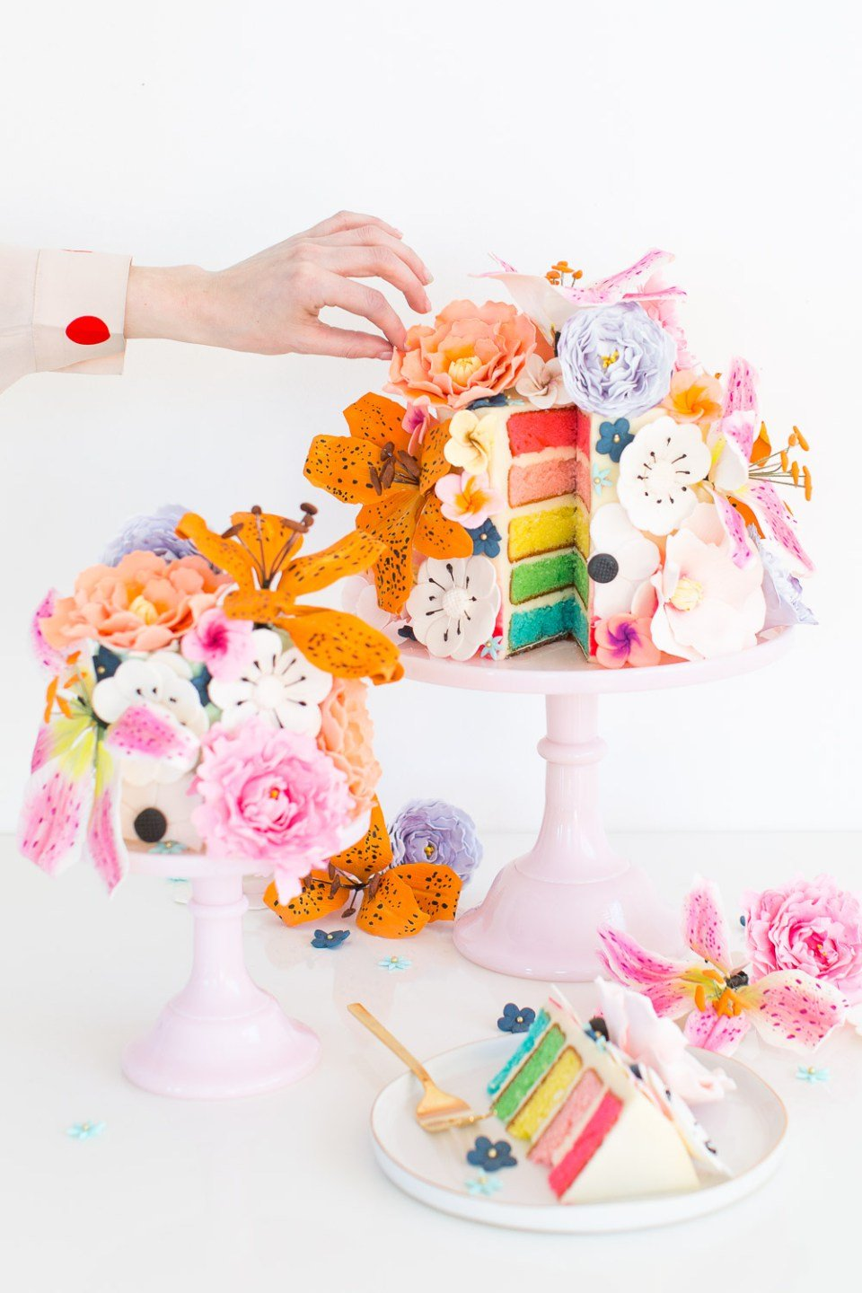 how to make sugar flowers for cakes from scratch