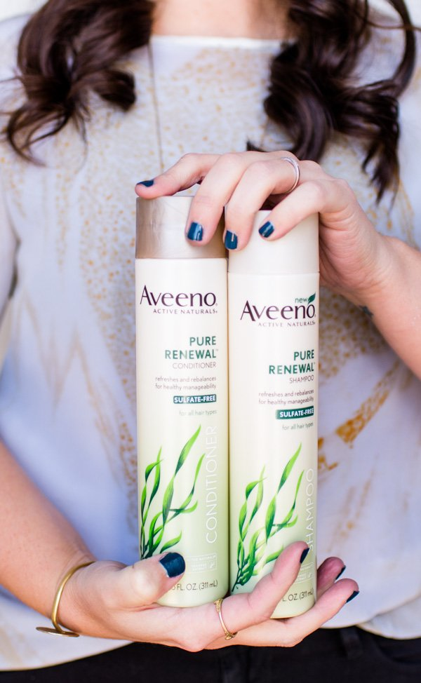 10 Minutes to the Perfect (Effortless) Wavy Hair with Aveeno Pure Renewal