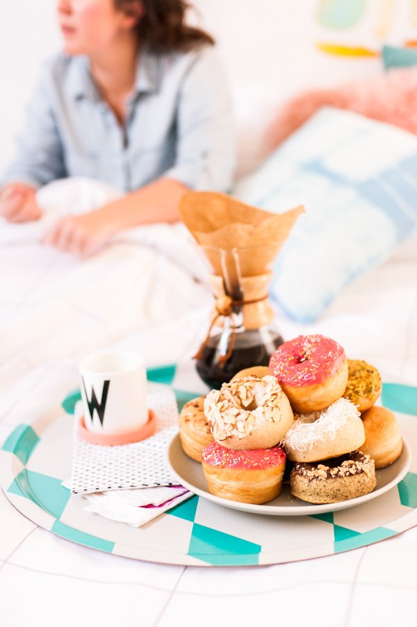 (Donuts and Coffee) Breakfast in Bed