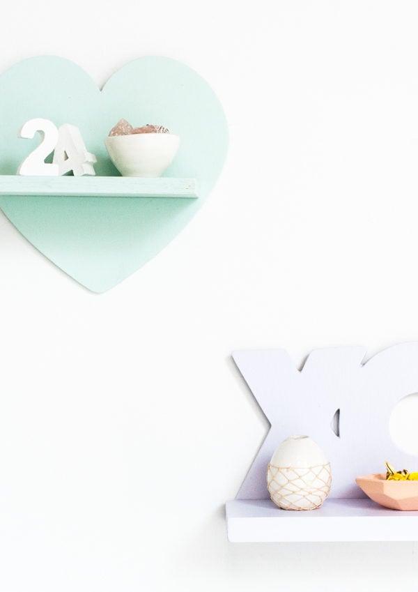 V-Day Mini DIY Shelves