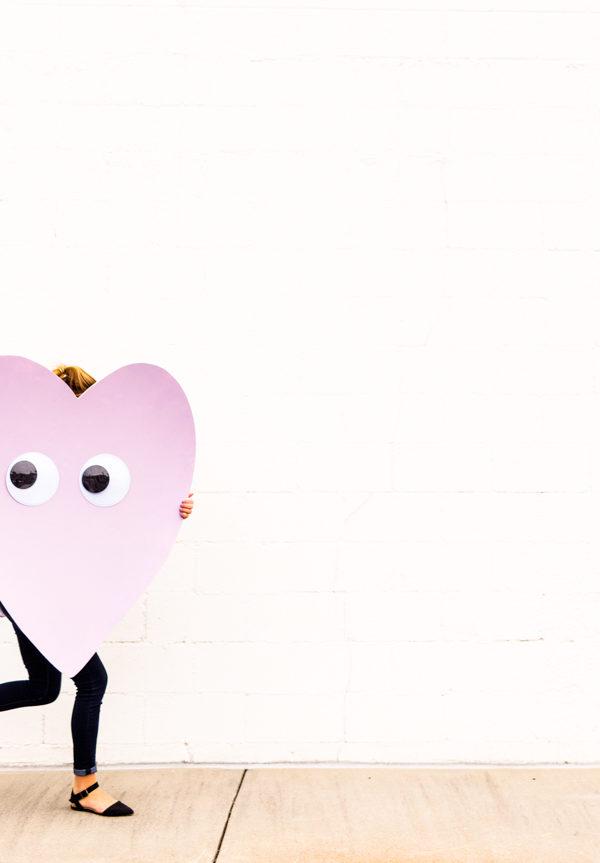 Giant Googly Eye DIY Heart Telegram for Valentine's Day