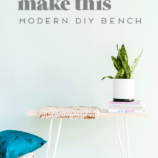 Take a Seat: How to Make a Budget-Friendly Bench in Under an Hour