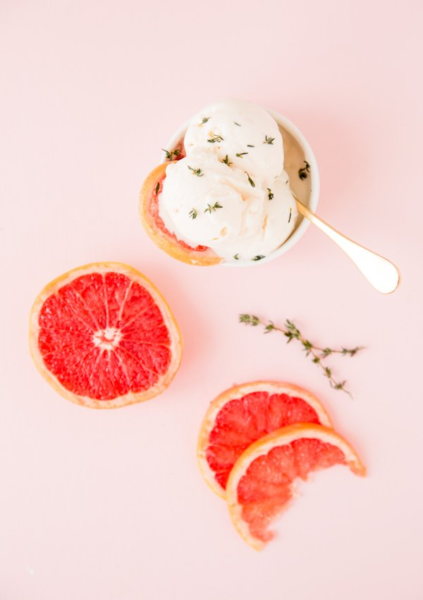 Grapefruit vanilla thyme ice cream recipe