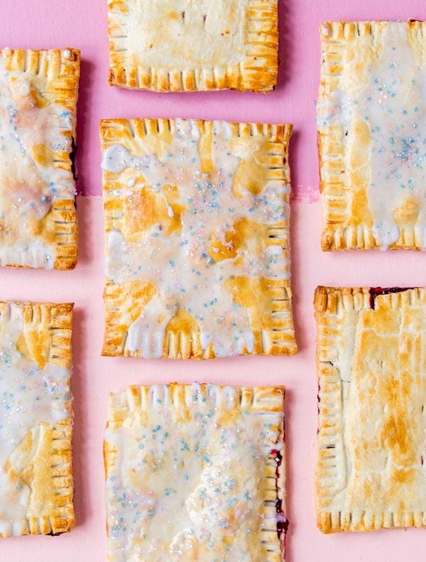 Homemade mixed berry pop tarts. Click through for the recipe.