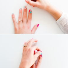 Color Block Vibes: Color Blocked DIY Nail Art