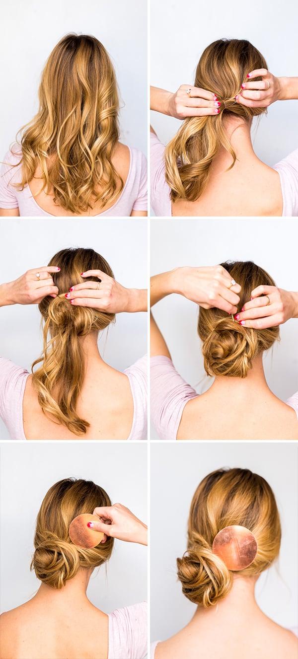 Messy Side Swept Chignon Hair Tutorial