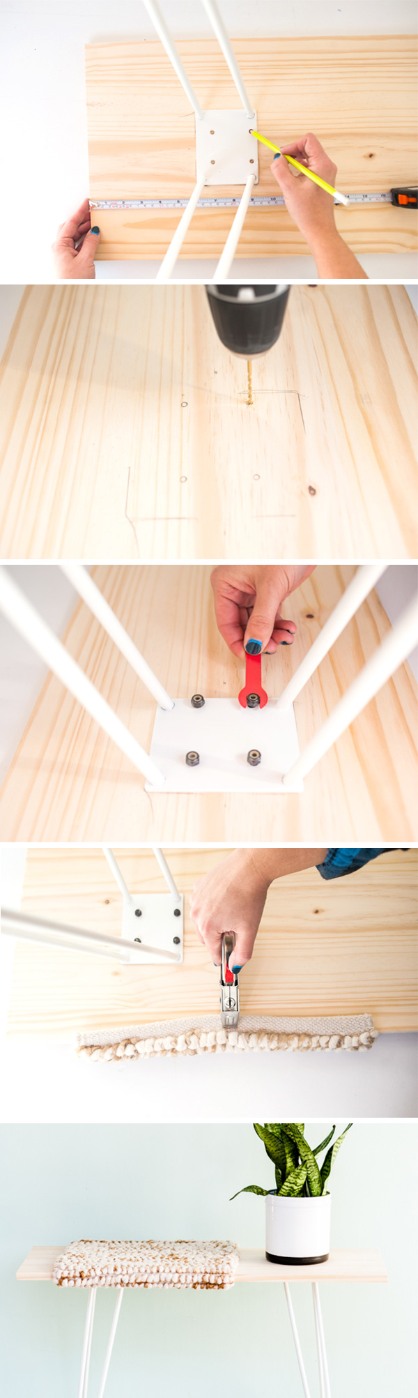 How to make a modern (budget-friendly) bench in under an hour