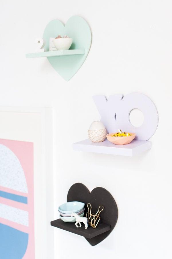 V-Day Mini DIY Shelves for Under $5