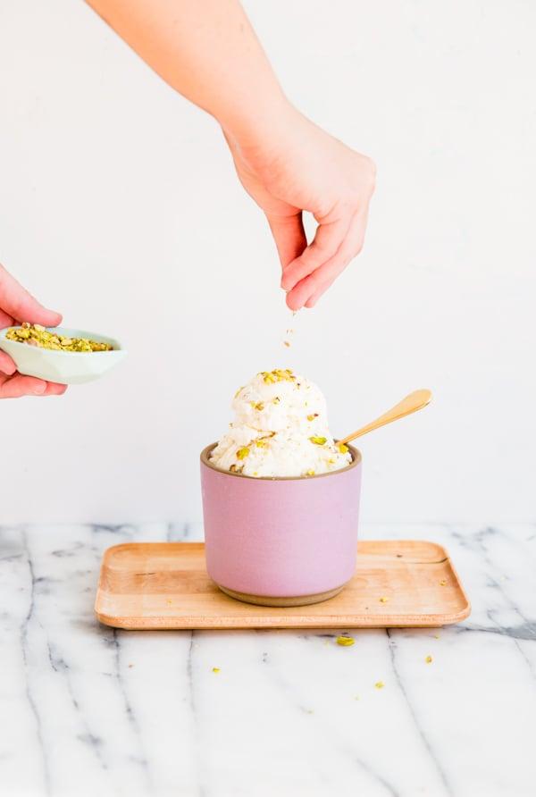 Pistachio pear ice cream recipe