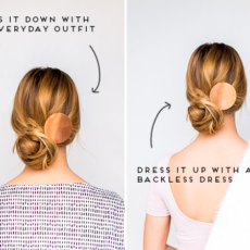 DIY Double Take: Messy Side Swept Chignon Hair Tutorial + DIY Copper Statement Hair Accessory