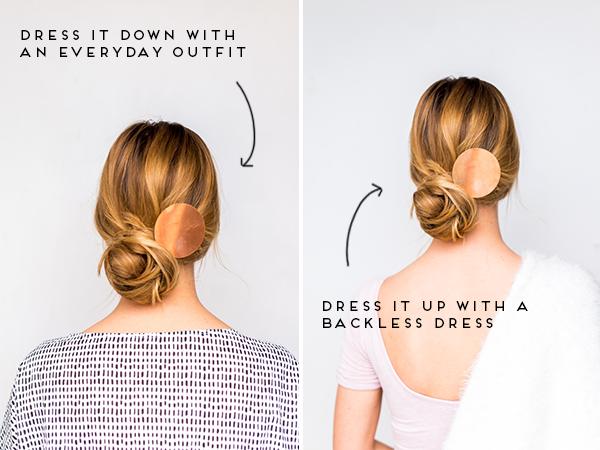 DIY Double TakeMessy Side Swept Chignon Hair Tutorial + DIY