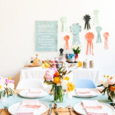 A Blogger Bunch for a Spring Brunch: Canvas, and Flowers, and Parfaits…Oh My!