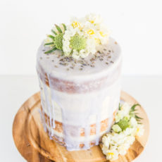 Piece of Cake: A (Semi Homemade) Lavender Glazed 5 Layer Cake