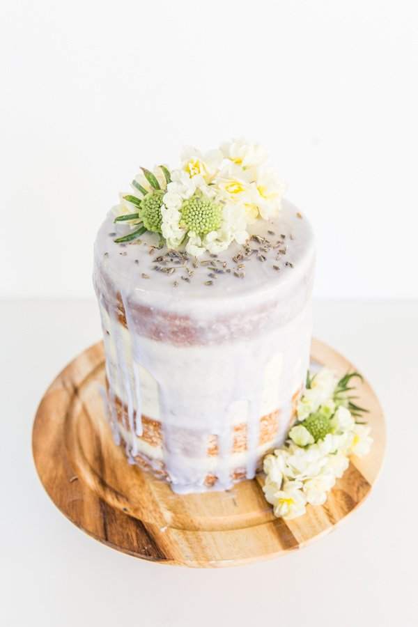 A (Semi Homemade) Lavender Glazed 5 Layer Cake