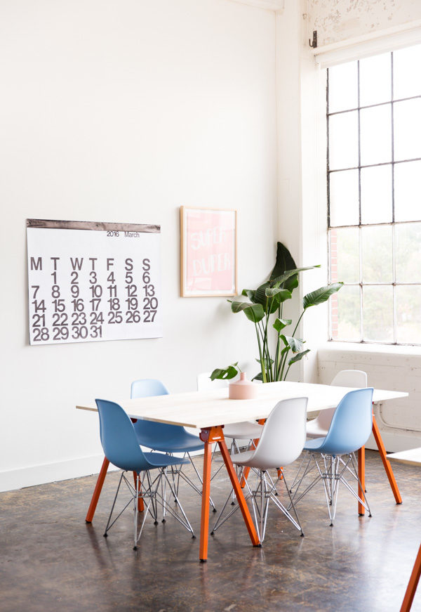 How to make DIY workspace tables + Paper & Stitch studio