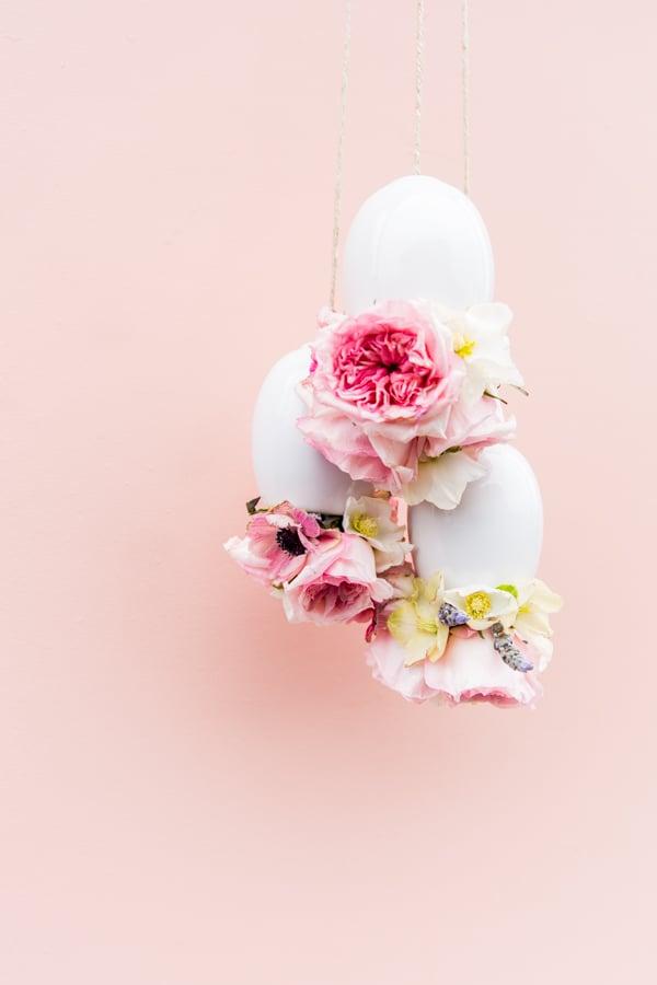 Upside Down DIY Hanging Floral Arrangement