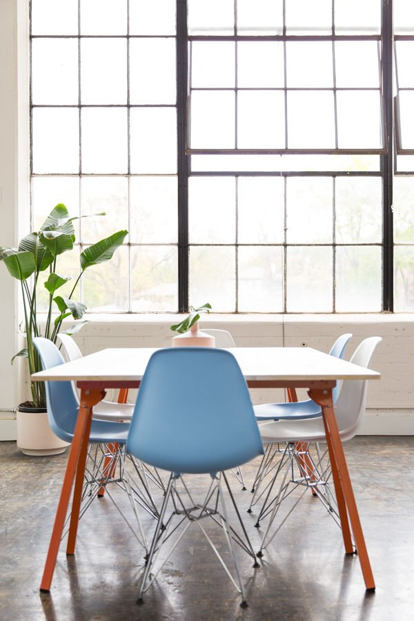 Paper & Stitch studio + DIY workspace tables (with step by step tutorial)