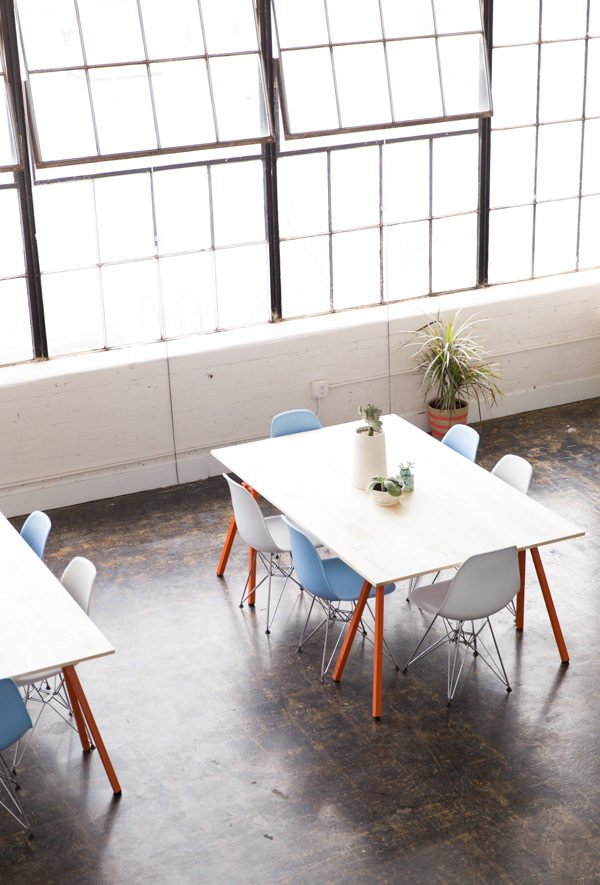 Paper & Stitch studios + DIY workspace tables (with tutorial)