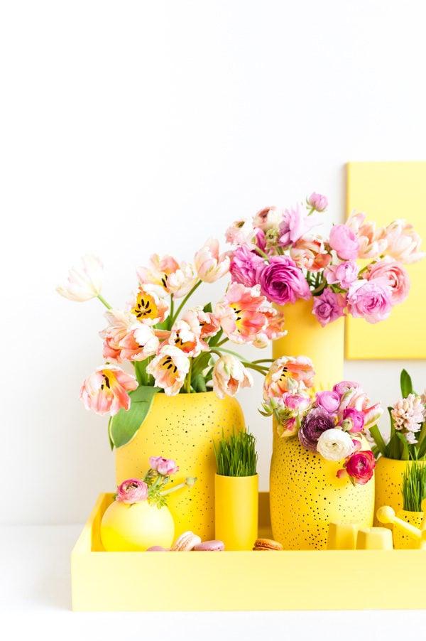 Monochromatic Easter Centerpiece