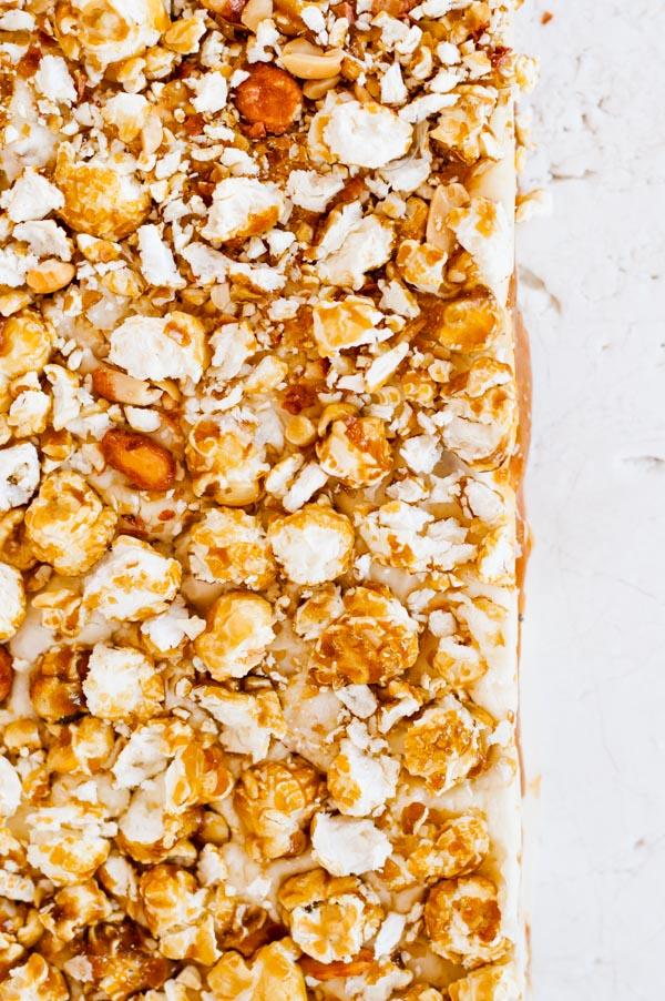 salty sweet caramel cracker jack fudge recipe