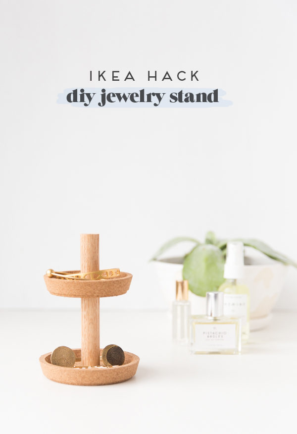 Ikea Hack: How to Make a Two Tier DIY Jewelry Stand for Under $10