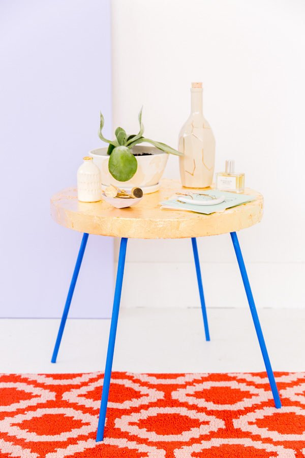 How to gold leaf pretty much anything (including a thrift store side table)