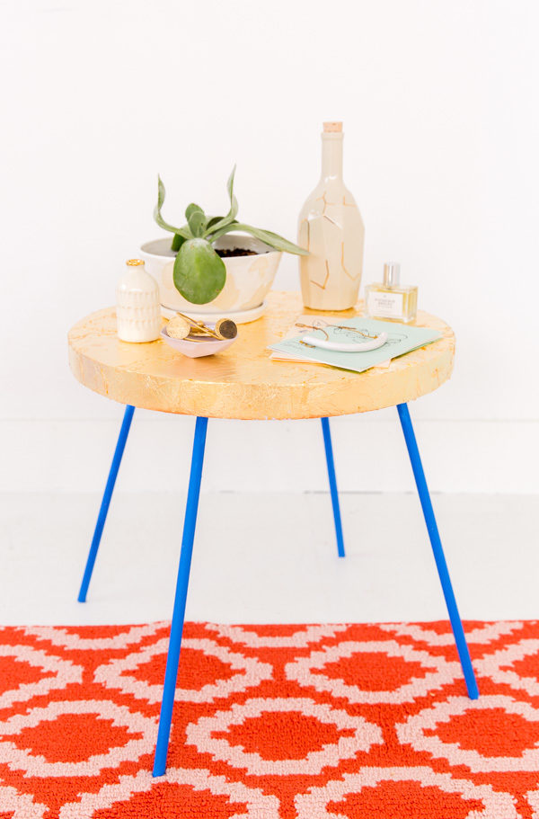 How to gold leaf pretty much anything (including a side table)