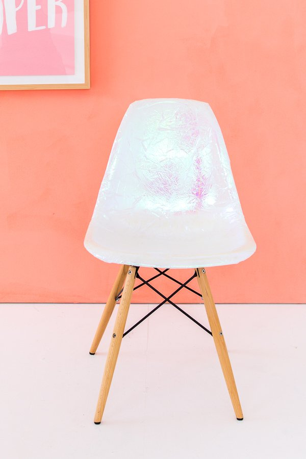 How to turn a dumpster find into a DIY holographic chair (for free)