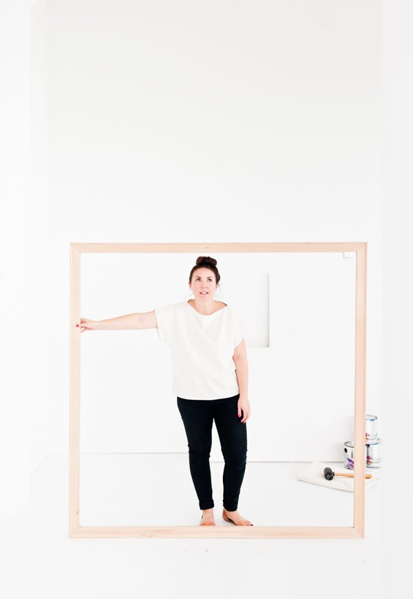 How to stretch a large (5ft) canvas by hand