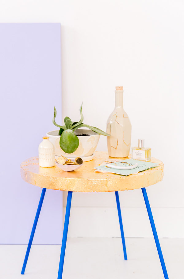 How to gold leaf pretty much anything (including a $20 side table)