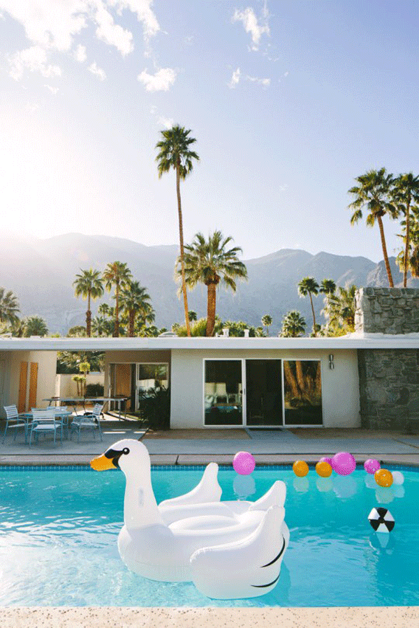 Poolside in Palm Springs