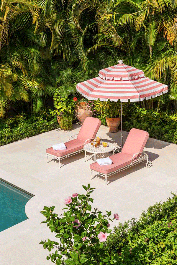 Poolside in pink