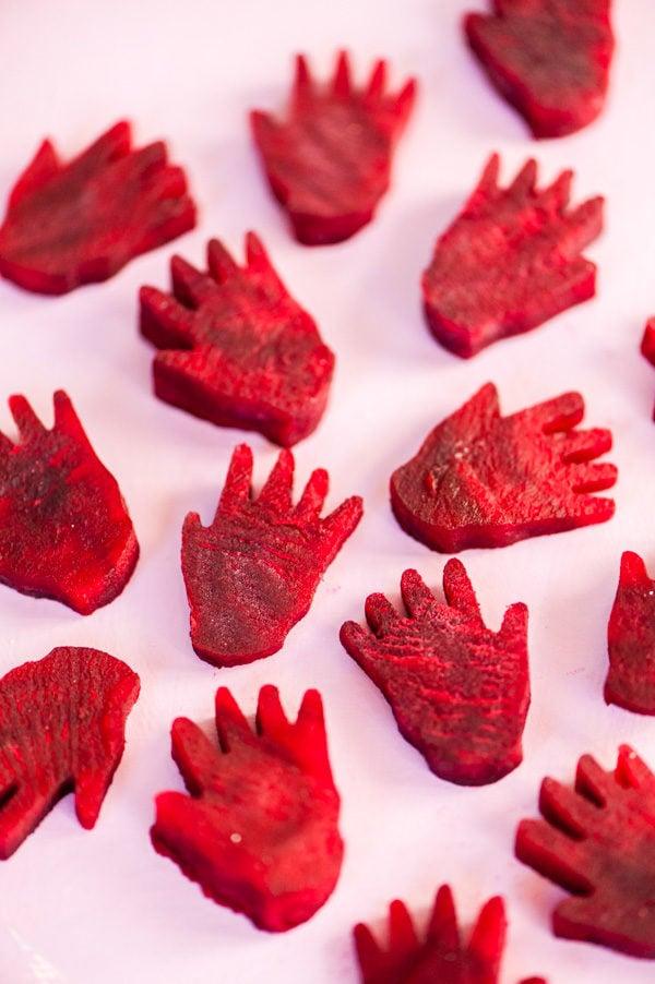 Eat Your Veggies: red beet hands