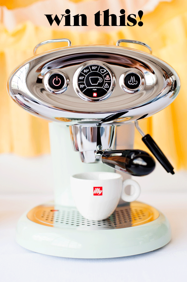 Click through to enter to win this espresso machine from illy coffee ($295 value)