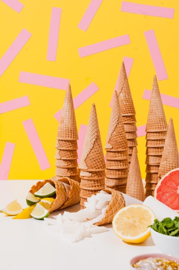A Colorful DIY Sorbet Bar with 3 Limited Ingredient Recipes