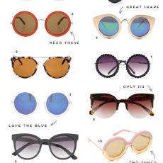 Sunny Side Up: 12 Awesome Pairs of Sunglasses to Get you Through Summer in Style